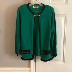 Classic chain closure sweater jacket